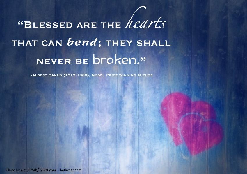 In Others' Words: Bend Not Break