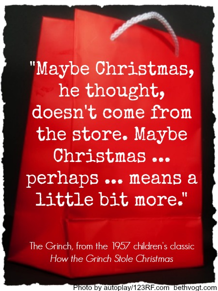 How The Grinch Stole Christmas Quotes.Quote From How The Grinch Stole Christmas Beth K Vogt