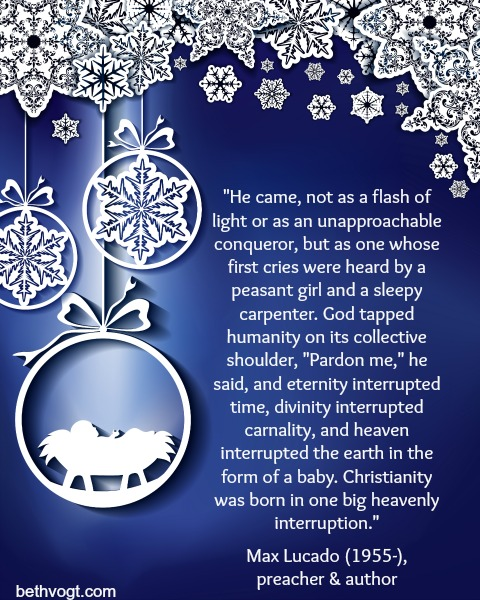 Max Lucado Christmas.In Others Words The Divine Interruption Of Christmas